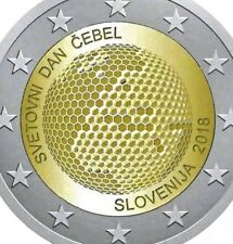 Slovenia 2 Euro Coin 2018 Commemorative Bee World Connection Honey New UNC F.rol