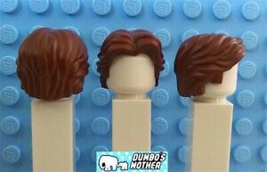 Lego Minifigure Hair Short Wavy Center Part Brown Han Solo Star Wars
