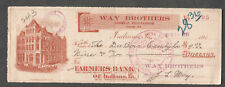 1911 check Farmers Bank Of Indiana PA/Way Brothers Merchandise/DuBois Candy Co