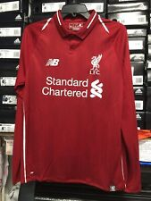 af388c9f2 New Balance Liverpool Fc Home Jersey Red And White Long Sleeve Size XL Only
