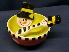 Mudpie Brand Snowman Dip Set with Spoon