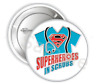 """Superheroes In Scrubs Pinback Buttons Badge, 2.25"""" or 3"""" Pins Buttons, Nurse Pin"""
