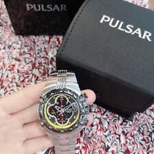 NEW Pulsar Men Chronograph dial Stainless Steel Bracelet PF3529
