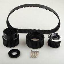 """1.5"""" Notch Belt Fit 12A 13B 20B 15mm RX7 FD RX3 Gilmer Drive Pulley Kit Black"""