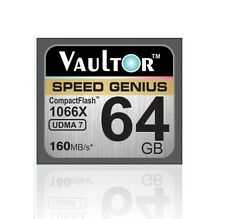 NEW VAULTOR EXTREME SPEED 64GB 1066X CF COMPACT FLASH MEMORY CARD - 160MB/S