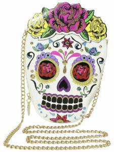 Betsey Johnson Kitsch Head Case Too Skull Crossbody Bag SEALED PACKAGE