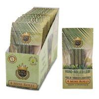 King Palm Mini Rolls Leaf Organic - 1 PACK - Natural 4 Per Pack Filter Pre FAST