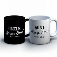 Personalized Aunt and Uncle Coffee Mugs - New Aunt and Uncle Baby Announcement G