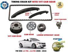 Para VW Eos 1.4 TSI 1.6 FSI 2006-2015 Cadena Transmisión Kit Tensionador + Vvt