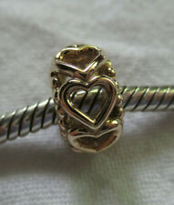 "AUTHENTIC PANDORA  UNWORN 14K GOLD ""LUCKY IN LOVE"" CHARM RETIRED 750813"
