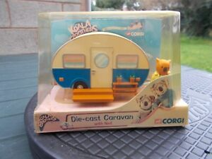 DIE CAST CARAVAN WITH 'NED' FIGURE FROM 'THE KOALA BROTHERS'-BOXED/LOVELY ITEM