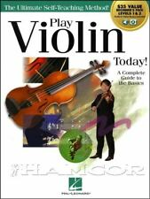Play Violin Today! Level 1 & 2 Music Book/Audio/Video Method SAME DAY DISPATCH