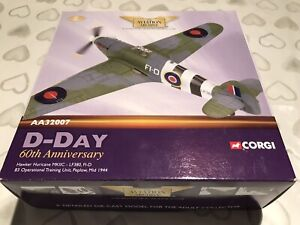 Corgi 1/72nd Hawker Hurricane MKIIC AA32007 D-DAY 60th Anniversary TOP CONDITION