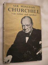 Sir Winston Churchill- as writer and speaker Herbert L Stewart 1st Edition & DJ