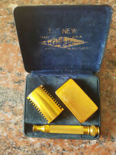 THE NEW GILLETTE USA SAFETY RAZOR CASED 1920