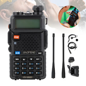 BAOFENG UV-5R III Tri-Band UHF/VHF Ham Radio Two Way FM Walkie Talkie + Earpiece