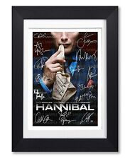 HANNIBAL CAST SIGNED POSTER TV SHOW SERIES SEASON PRINT PHOTO AUTOGRAPH GIFT