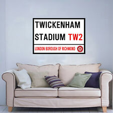 TWICKENHAM STREET SIGN ON AN 18 x 24 INCH CANVAS.READY TO HANG. ENGLAND RUGBY