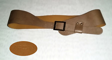 MARCCAIN Beige Leather BELT MADE IN ITALY  Size N4 85