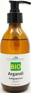 Arganöl BIO kbA 250 ml 100% rein aus Marokko für Haut und Haare (4,76€/100ml)