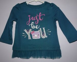 NEW GYMBOREE SIZE 5 5T WOODLAND WEEKEND JUST BE YOU TOP TEE TULLE TRIM