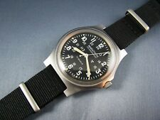 Gallet Marathon Stainless Steel GG-W-113 US Military H3 Hack Mens Watch 1985
