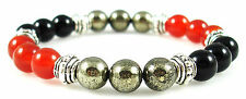 BLOOD DISORDER 8mm Crystal Intention Bracelet w/Description - Healing Stones