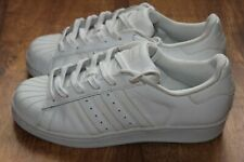 ADIDAS SUPERSTAR SIZE UK 4 WHITE LEATHER SNEAKERS VERY GOOD CONDITION