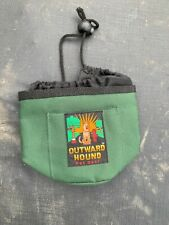 Outward Hound Treat & Ball Pouch Drawstring Cinch Bag Double Compartment Sack