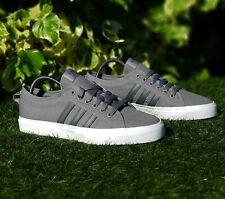 """BNWB & Genuine adidas originals ® Nizza Lo """" Grey & White """" Trainers UK Size 6"""