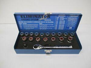 Armstrong USA Eliminator 19 Piece Ratchet System & Sockets Tool Set 16-090 & Box