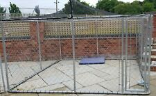 Galvanised Dog Run and Kennel 320w x 200d x 180h Top quality run solid & secureC