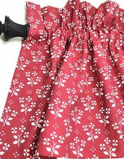 Window Valances 6 Red Floral Print 84� X 18� Double Sided Total 2.33 Yards Each