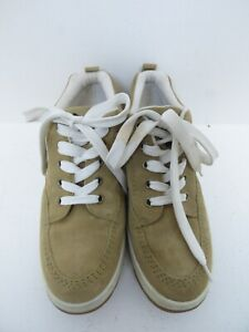 Mens Beige Suede Lace Up Caterpillar Shoes - UK Size 10    A25