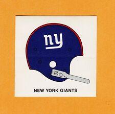 "1960's NY NEW YORK GIANTS 3"" 1 BAR HELMET KRAFT PAPER BACK DECAL Unsold Unused"