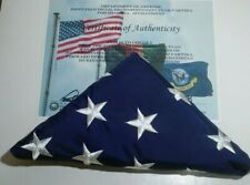 3' x 5' United States Flag Annin -with Dod Certificate of Authenticity 2009