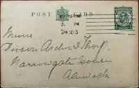 King George V ½ Penny Postcard Posted 22nd January 1913