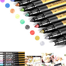 Metallic Marker Pens, Morfone Set of 10 Colors Paint Markers for Card Making,...