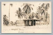 Beach Cabins—Playa de Bolada Honduras RPPC Rare Antique Foto Photo 1920s
