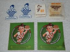 Original Bob's Big Boy, Tea Bag, 2 FRIDGE MAGNET, Matchbook, 2 Free Hamburger