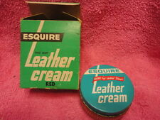 Esquire Leather Cream Red Box & Jar Advertising Vintage