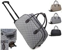 Ladies G Print Holdall Trolley Weekend Bag Girls Hand Luggage Travel Handbag