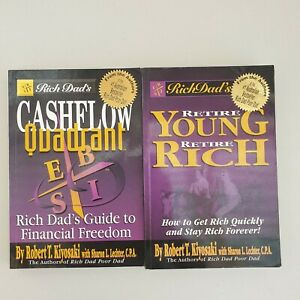 2 x Retire Young Retire Rich Cashflow Quadrant Robert T. Kiyosaki Lot2 B8