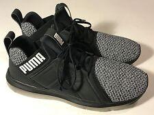 Puma Enzo Knit Black Gray Soft Foam Athletic Shoes Men Size 10, Mint