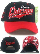 Chicago New Top Pro Bull Head Bulls Colors Black Red 23 Adjustable Era Hat Cap