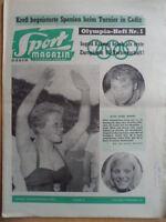 SPORT MAGAZIN KICKER 36A - 29.8. 1960 * Olympia Rom Ingrid Krämer Bayern-VfB 5:1