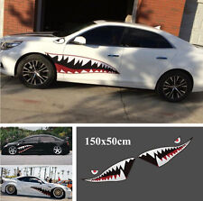 1Pair 150x50cm DIY Shark Mouth Tooth Teeth Graphics Car Sticker Decal Waterproof