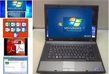 """DELL LATITUDE E5510 15.6"""" LAPTOP INTEL CORE i5-M560 2.67GHz, Windows 7 pro, Word"""
