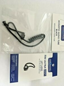 Acoustic Audio tube an Fin Left Large earpiece in Black
