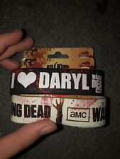 Walking Dead I Heart Daryl Dixon Silicone Bracelet Wristband Lot Of 2 Official